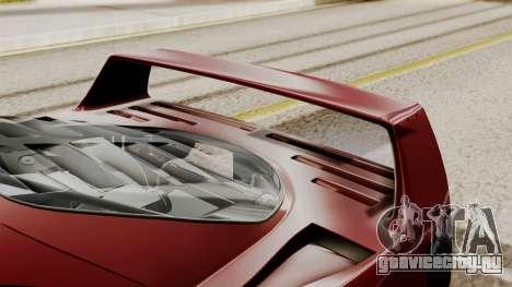 Ferrari F40 1987 without Up Lights IVF для GTA San Andreas вид сзади