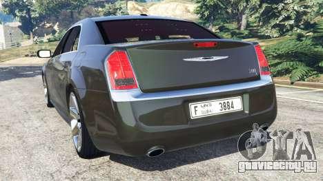 Chrysler 300C 2012 [Beta] для GTA 5 вид сзади слева