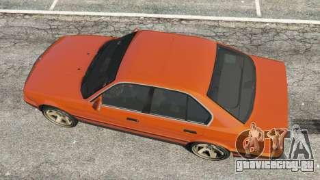 BMW 535i (E34) v2.0 для GTA 5 вид сзади
