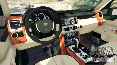 Range Rover Supercharged для GTA 5 вид спереди справа