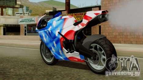 Bati America Motorcycle для GTA San Andreas вид слева