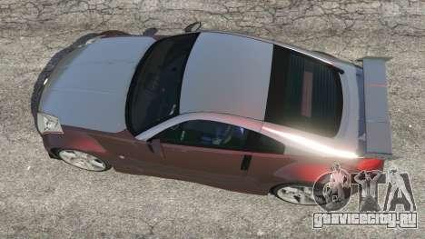 Nissan 350Z для GTA 5 вид сзади