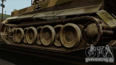 Panzerkampfwagen VI Ausf. E Tiger No Interior для GTA San Andreas вид сзади слева