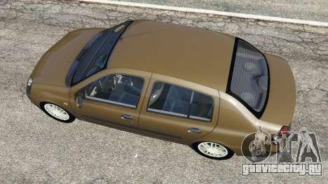 Renault Symbol 1.4L для GTA 5 вид сзади