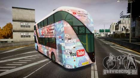 Wrightbus New Routemaster для GTA 4 вид сзади слева
