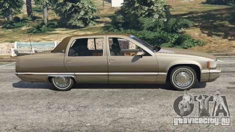 Cadillac Fleetwood 1993 для GTA 5 вид слева
