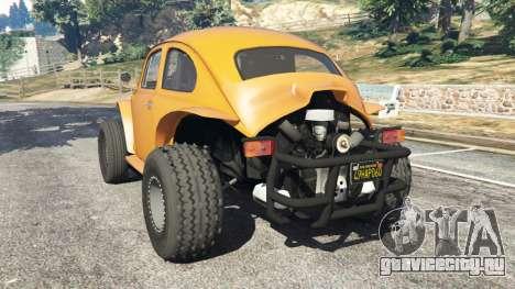 Volkswagen Beetle Baja Bug [Beta] для GTA 5 вид сзади слева
