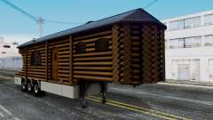 Scania Showtrailer Blockhütte для GTA San Andreas