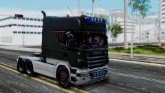 Scania R580 Longline Custom Showtruck 2008 для GTA San Andreas
