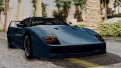 Ferrari F40 1987 with Up without Bonnet HQLM для GTA San Andreas