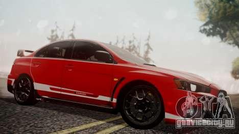 Mitsubishi Lancer Evolution X 2015 Final Edition для GTA San Andreas двигатель