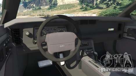 Chevrolet Camaro IROC-Z [Beta 2] для GTA 5 вид сзади справа
