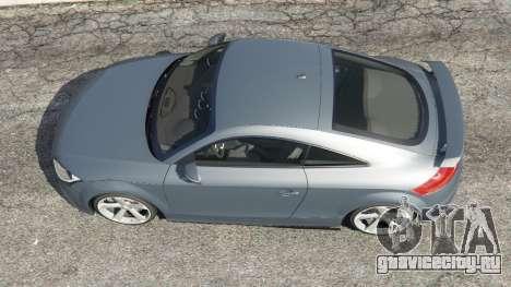 Audi TT RS 2013 для GTA 5 вид сзади