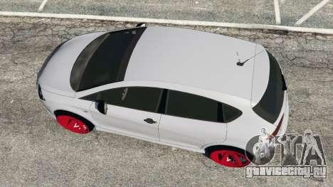 SEAT Leon II 2010 v1.1 для GTA 5 вид сзади