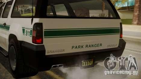 GTA 5 Declasse Granger Park Ranger IVF для GTA San Andreas вид снизу