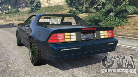 Chevrolet Camaro IROC-Z [Beta 2] для GTA 5 вид сзади слева