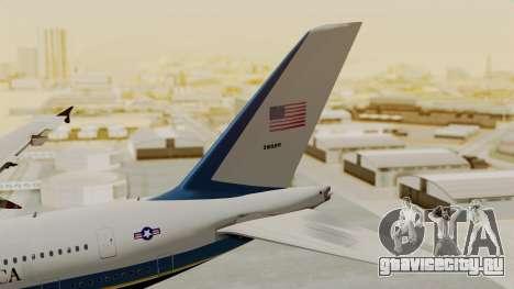 Airbus A380 Air Force One для GTA San Andreas вид сзади слева