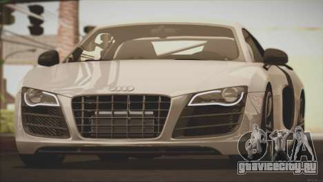 Audi R8 GT 2012 Sport Tuning V 1.0 для GTA San Andreas вид сверху