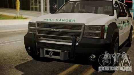 GTA 5 Declasse Granger Park Ranger IVF для GTA San Andreas вид изнутри