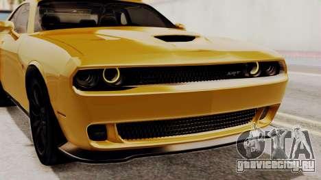 Dodge Challenger SRT Hellcat 2015 IVF PJ для GTA San Andreas вид сбоку