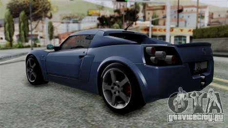 Opel Speedster Turbo 2004 Stock для GTA San Andreas вид слева