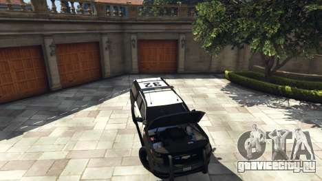 Chevrolet Suburban Sheriff 2015 для GTA 5 вид сзади справа