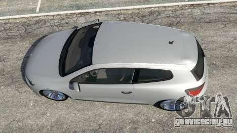 Volkswagen Scirocco [Beta] для GTA 5 вид сзади