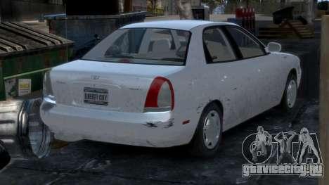 Daewoo Nubira I Sedan SX USA 1999 для GTA 4 салон
