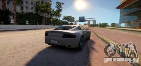 Aston Martin DB9 Vice City Deluxe для GTA 4 вид сзади