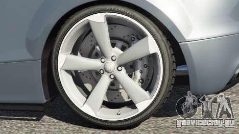Audi TT RS 2013 для GTA 5 вид сзади справа