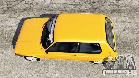 Talbot Samba для GTA 5 вид сзади