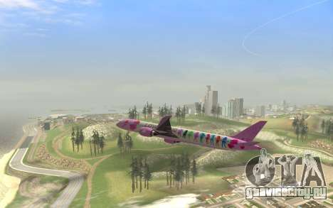 LoveLive Boeing 787-9 Livery для GTA San Andreas вид справа