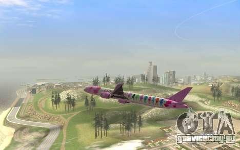 LoveLive Boeing 787-9 Livery для GTA San Andreas вид справа