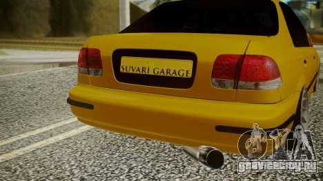 Honda Civic Sedan для GTA San Andreas вид сзади