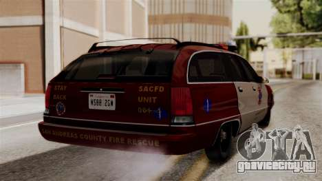 Chevy Caprice Station Wagon 1993-1996 SACFD для GTA San Andreas вид слева