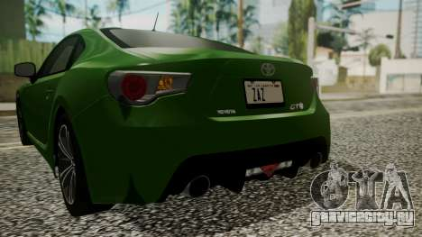 Toyota GT86 2012 для GTA San Andreas вид снизу