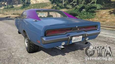 Dodge Charger RT 1970 v3.0 для GTA 5 вид слева