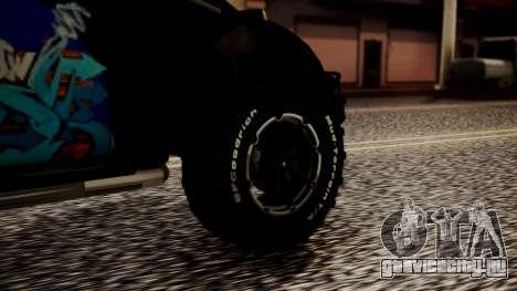Volkswagen Beetle Vocho-Buggy для GTA San Andreas вид сзади слева