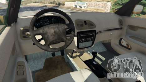 Daewoo Nubira I Wagon CDX US 1999 [Rusty] для GTA 5 вид сзади справа