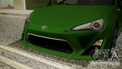 Toyota GT86 2012 для GTA San Andreas вид сбоку