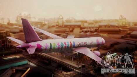 Boeing 787-9 LoveLive Livery для GTA San Andreas вид слева
