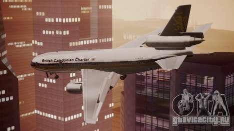 DC-10-30 British Caledonian Charter для GTA San Andreas вид слева