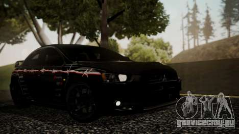 Mitsubishi Lancer Evolution X 2015 Final Edition для GTA San Andreas салон