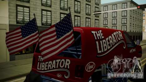 GTA 5 Vapid The Liberator IVF для GTA San Andreas вид сзади