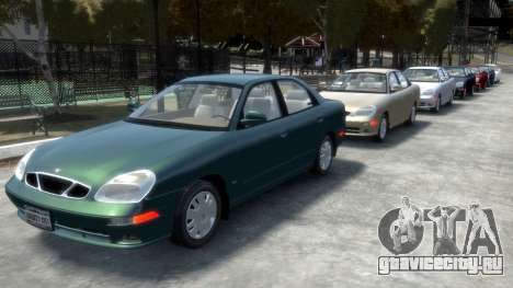Daewoo Nubira II Sedan SX USA 2000 для GTA 4 колёса