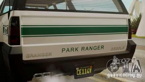 GTA 5 Declasse Granger Park Ranger для GTA San Andreas вид сзади