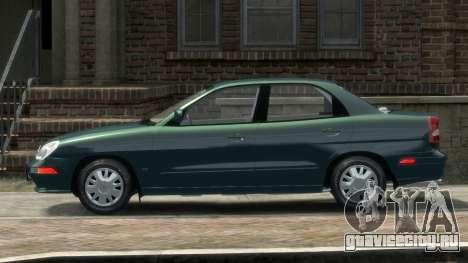 Daewoo Nubira II Sedan SX USA 2000 для GTA 4 вид слева