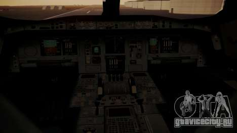 Airbus 350-900XWB MSN2 Carbon Livery для GTA San Andreas вид сзади
