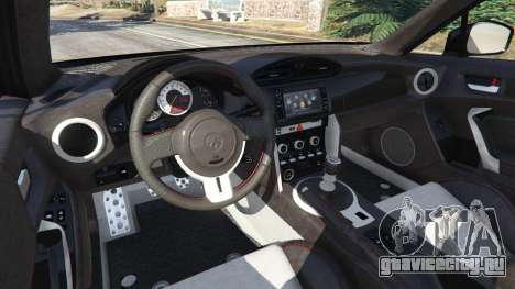 Toyota GT-86 v1.4 для GTA 5 вид сзади справа