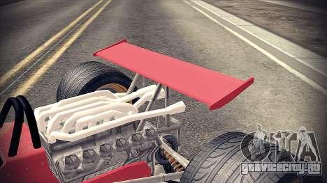 Ferrari 312 F1 для GTA San Andreas вид сзади